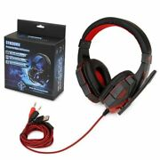 Gaming Headset Xbox One Pc Ps4 With Mic Usb Adapter Black And Red Girls Boys