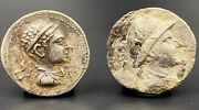 2 Old Coins Alexander Ancient Bactrian Indo Greeks Silver Antique Antiquities