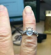 750ct 18ct Moonstone And Diamond Ring M/s 1.51cts Dia 0.46cts. Size O