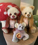 Charlie Bears Blossom And Popcorn Tags And Toto Bags Rare And Retired And Free Bag Buddy