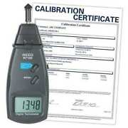 Reed Instruments R7100-nist Combination Contact / Laser Photo Tachometer With