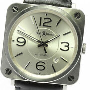 Bell&ross Brs-92 Date Silver Dial Automatic Boyand039s Watch_633349