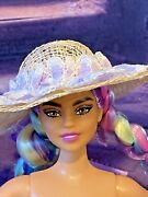 Barbie Accessory 1/6 Scale Fancy Old-fashioned Southern Style Hat -pretty