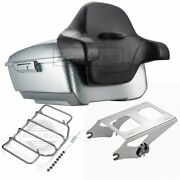Brilliant Silver King Tour Pack Pak For 97-2021 Harley Street Road Electra Ultra