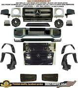 G63 Conversion Amg Kit Bumper Flares Led Lip G550 G500 Grille Mansory Signal New