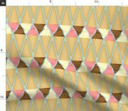 Cornet Ice Cream Cone Tessellation Food Party Spoonflower Fabric By The Yard