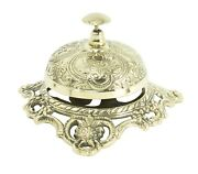 Antique Style Ornate Solid Brass Hotel Counter Bell Service Desk Bells Victorian