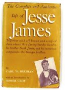 1953 1st Ed The Complete And Authentic Life Of Jesse James Breihan + Newspaper