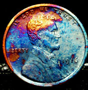 1916 P Lincoln Wheat Penny Cent- Beautiful Toning Superb Gem High Grade 06