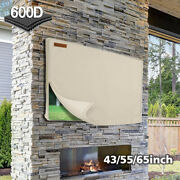 Outdoor Tv Cover Fitted Waterproof Weatherproof Television Protector For 40-65