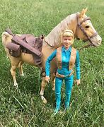 Vintage Marx Jane West With Accessories Plus Thunderbolt Horse With Tack