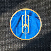 Blue/gold Oldsmobile Dayton Wire Wheel Chips Emblems Decals Set Of 4 Size 2.25in