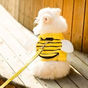 Pet Dog Cat Cute Bees Vest Traction Rope Fluff Wings Breathable Soft S-xl Size