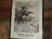 Marine Corps Sniper Poster Death From Afar/signed By Carlos Hathcock