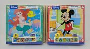 Melissa And Doug Disney Mickey Mouse And Ariel Wooden Cube Puzzle W/storage Tray
