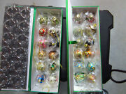 Joan Rivers Classic Collection Russian Egg Christmas Ornaments 24 With Silk Case