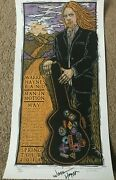 Warren Haynes Autographed / Signed 2011 Concert Tour Poster Lithograph And Pass