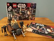 Lego Star Wars 7654 Droids Battle Pack Complete Instructions Minifigs Box