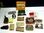 Vintage Plasticville O Scale Buildings - Lot Of 14 With Boxes