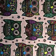 By The 1 Yard Flannel Boho Owl Craft Quilt Fabric