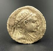 1 Old Coins Alexander Ancient Bactrian Bakhtar Indo Greeks Silver Antiquities