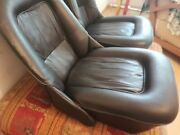 Unidentified Classic Car Front Leather Bucket Seats/two Seats
