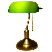 Vintage Green Glass Shade Bankers Desk Lamp Antique Piano Library Light E26 110v
