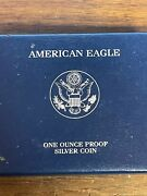 One Ounce .999 Silver Proof 2007 W American Silver Eagle With Coa