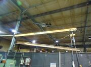 Handling Systems 1 Ton Column Mounted Jib Crane 25andrsquo Long With 1 Ton Electr Hoist