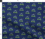 907 Alaska Navy Blue Mountains Big Dipper Trees Spoonflower Fabric By The Yard