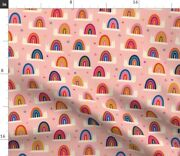 Whimsical Snail Rainbow Vintage Colors Childrens Spoonflower Fabric By The Yard