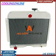 4 Row Aluminum Radiator For 46-64 48 Jeep Willys Station Wagon Truck 475 L4 L6