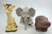 Fisher Price Little People Animals Zoo Large Elephant Hippo Giraffe Sound Works
