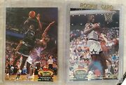 92-93 Topps Stadium Club Rookie Card Shaquille Oneal Rc 247 And 201 Shaq Lot Of 2