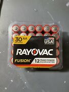 Rayovac Fusion Aa Batteries Premium Alkaline Batteries 60 Count New Exp 2/2032