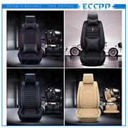 9/13pcs Interior Leather 5-seats Car Seat Cover Front Rear Cushion Full Set