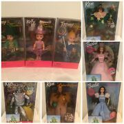 The Wizard Of Oz Barbie Doll Collection - Lot Of 8 - Barbie Ken Tommy Kelly