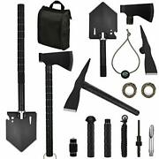 Yeacool Survival Shovel Multitool, Folding Off-roading Kit, Survival Gear And...
