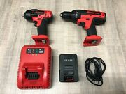 Snap On 18v Hammer Drill And 3/8 Impact With 1 Battery And Charger.