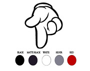 Mickey Hand Point Mouse - Vinyl Decal Sticker Window Glass Car Truck 4 6 10