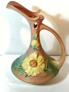 Antique Roseville Pottery Peony 1942 Ewer 8-10 Rare Pottery Pitcher