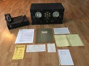 E.m Sargent Co. Model 11-uf 1930and039s Ham Radio Receiver + Manual And Schematic