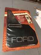 Ford Splash Guards / Mud Flaps Vintage Chrome And Rubber Extra Wide Nos