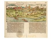 Germany Spires Antique Woodcut Map Speyer By Munster 1550   Early Maps Germany