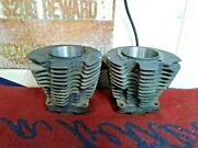 1972-e73 Harley-davidson Ironhead Sportster Xlh 1000 Front And Rear Cylinders