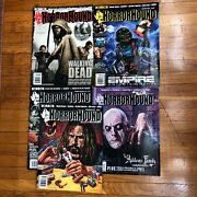 Horror Hound Magazine Lot Issue 36, 37, 38, 56, 57 Rob Zombie Wes Craven Vhs