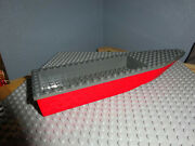 Lego Grey Red Ship Hull 8 X 28 X 3 Fire Boat 60005