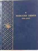 Complete Silver Mercury Dime Set 77 Coins Including 1916 D Missing 1942/41