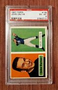 1957 Topps 138 Johnny Unitas Baltimore Colts Rookie Football Card Psa 6 Exmt Rc