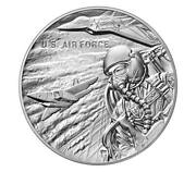 U.s. Air Force 2.5 Ounce Silver Medal Philadelphia Unopened Us Mint Box In Stock